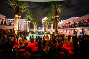 nightclub with outdoor concert